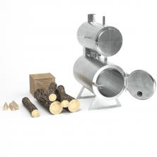 Teplovodní krbová kamna na dřevo - kotel FÉNIX