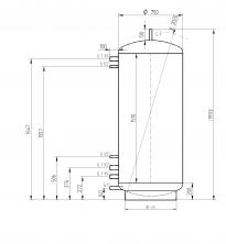 Akumulační nádrž MAGNAD0 750l