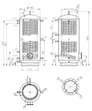 Akumulační nádrž MAGNAD2 750l