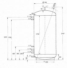 Akumulační nádrž MAGNAD0 1000l d790