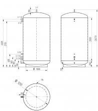 Akumulační nádrž MAGNAD0 3000l d1250