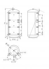 Akumulační nádrž KXT0 500l