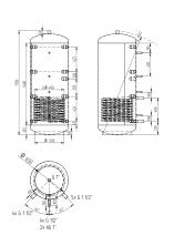 Akumulační nádrž KXT1 500l