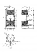 Akumulační nádrž KXT2 500l