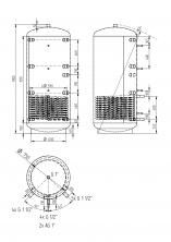 Akumulační nádrž KXT1 750l