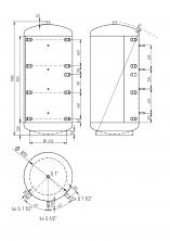 Akumulační nádrž KXT0 1000l d850