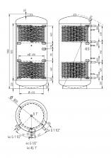 Akumulační nádrž KXT2 1000l d850