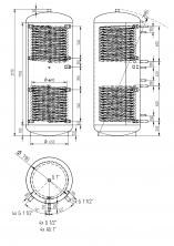 Akumulační nádrž KXT2 1000l d790