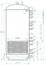 Akumulační nádrž MG1 800l