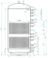 Akumulační nádrž MG2 1000l d850