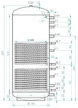 Akumulační nádrž MG2 1000l d790