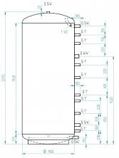 Akumulační nádrž MG0 1500l d900
