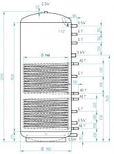 Akumulační nádrž MG2 1500l d900