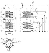 Akumulační nádrž s ohřevem TUV - MT2 500l +DN32