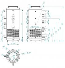 Akumulační nádrž s ohřevem TUV - MT1 650l +DN32