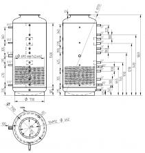 Akumulační nádrž s ohřevem TUV - MT1 800l +DN32