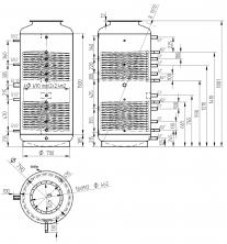 Akumulační nádrž s ohřevem TUV - MT2 800l +DN32