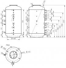 Akumulační nádrž s ohřevem TUV - MT0 1500l d1000+DN32