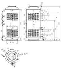 Akumulační nádrž s ohřevem TUV - MT2 1500l d900+DN32