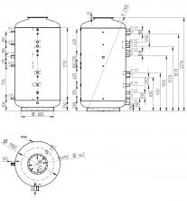 Akumulační nádrž s ohřevem TUV - MT0 2000l +DN32
