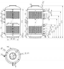 Akumulační nádrž s ohřevem TUV - MT2 2000l +DN32