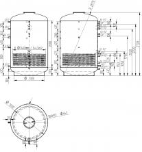 Akumulační nádrž s ohřevem TUV - MT1 5000l +DN32
