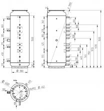Akumulační nádrž s ohřevem TUV - MT0 500l +170l