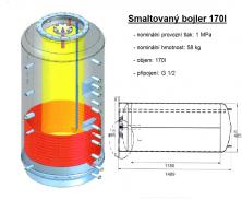Akumulační nádrž s ohřevem TUV - MT1 1000l d850+170l