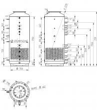 Akumulační nádrž s ohřevem TUV - MT1 1000l d790+170l