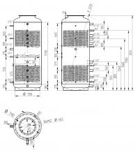 Akumulační nádrž s ohřevem TUV - MT2 1000l d790+170l