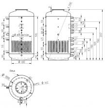 Akumulační nádrž s ohřevem TUV - MT1 1500l d1000+170l