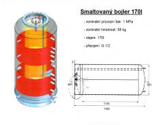Akumulační nádrž s ohřevem TUV - MT2 1500l d1000+170l