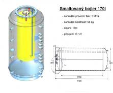 Akumulační nádrž s ohřevem TUV - MT0 1500l d900+170l