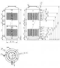 Akumulační nádrž s ohřevem TUV - MT2 1500 l d900+170l