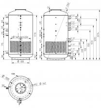 Akumulační nádrž s ohřevem TUV - MT1 2000l +170l