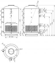 Akumulační nádrž s ohřevem TUV - MT1 3000l +170l