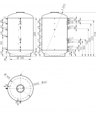 Akumulační nádrž s ohřevem TUV - MT0 5000l +170l