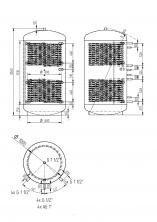 Akumulační nádrž KXT2 1500l d1000