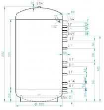 Akumulační nádrž MG0 1500l d1000