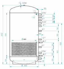 Akumulační nádrž MG1 1500l d1000