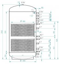 Akumulační nádrž MG2 1500l d1000