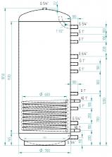 Akumulační nádrž MG1 650l
