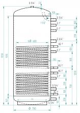 Akumulační nádrž MG2 650l