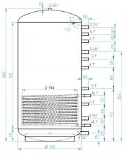 Akumulační nádrž MG1 1200l