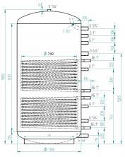 Akumulační nádrž MG2 1200l