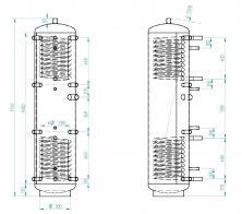 Akumulační nádrž KXT2 200l d400