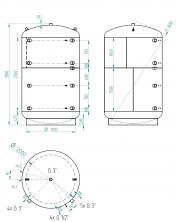 Akumulační nádrž KXT0 10 000l d2000