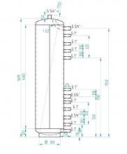 Akumulační nádrž MG0 200l