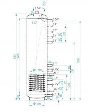 Akumulační nádrž MG1 200l