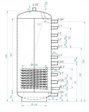 Akumulační nádrž MG1 300l
